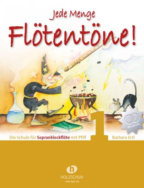 NOTEN Jede Menge Flötentöne 1 mit CD Ertl Barbara VHR3617-CD