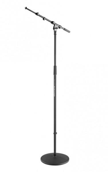K&M Rundsockel Mikrofonstativ mit Galgen 26145
