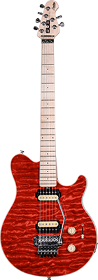 STERLING SUB AX4 E-Gitarre, Trans. Red